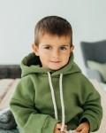 Костюм детский трикотажный с начесом и капюшоном оливка Vikki Kids