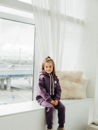 трикотажный с начесом и капюшоном Фиолетовый Vikki Kids