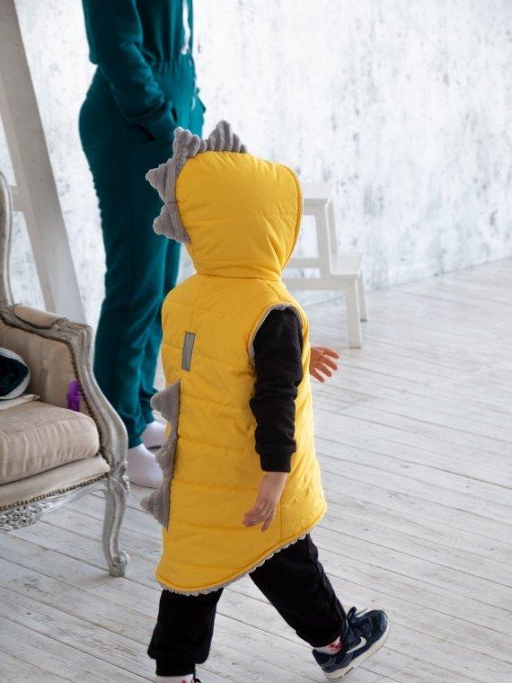 Дино - жилетка желтый Vikki Kids