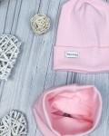 Снуд трикотажный розовый Vikki Kids