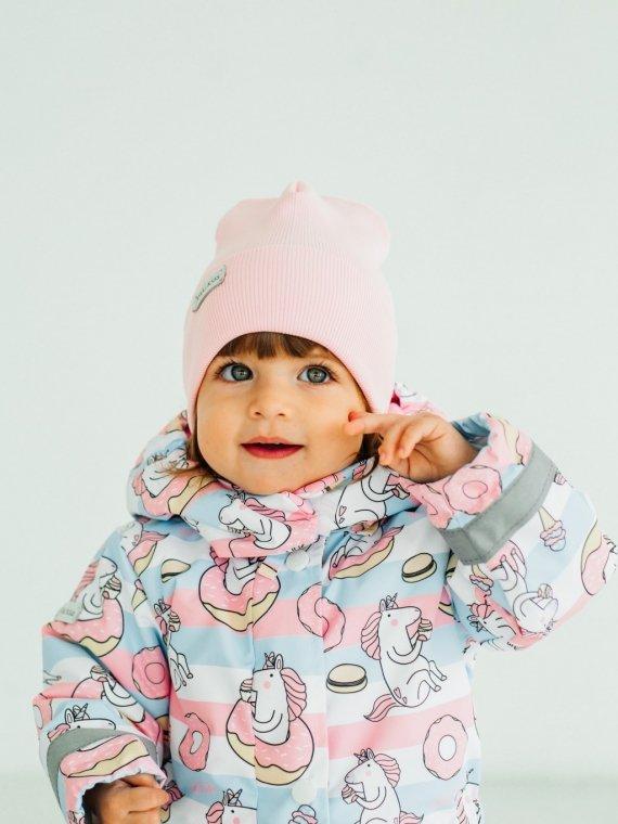 Шапка трикотажная розовая Vikki Kids