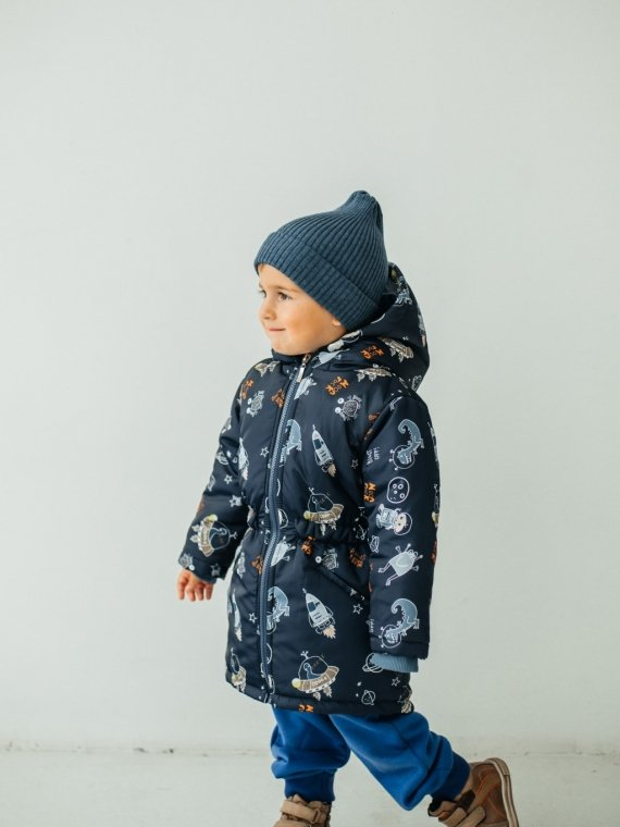 Куртка детская демисезонная космические динозавры Vikki Kids