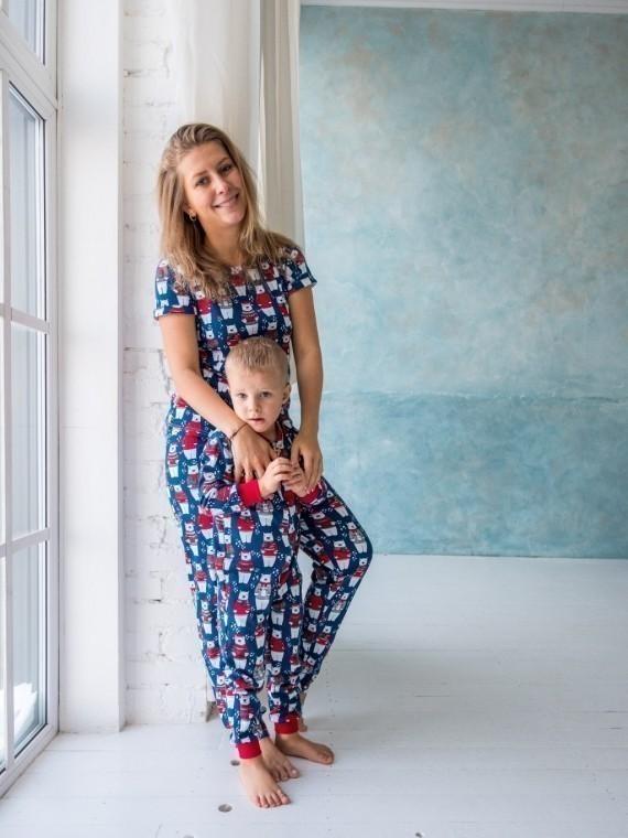 Пижама женская с брюками мишки Vikki Kids