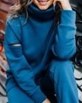 Свитшот женский трикотажный с начесом морская волна Vikki Kids