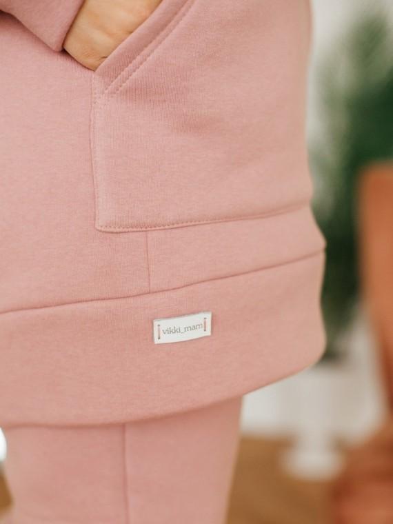 Свитшот женский трикотажный с начесом розовая пудра Vikki Kids