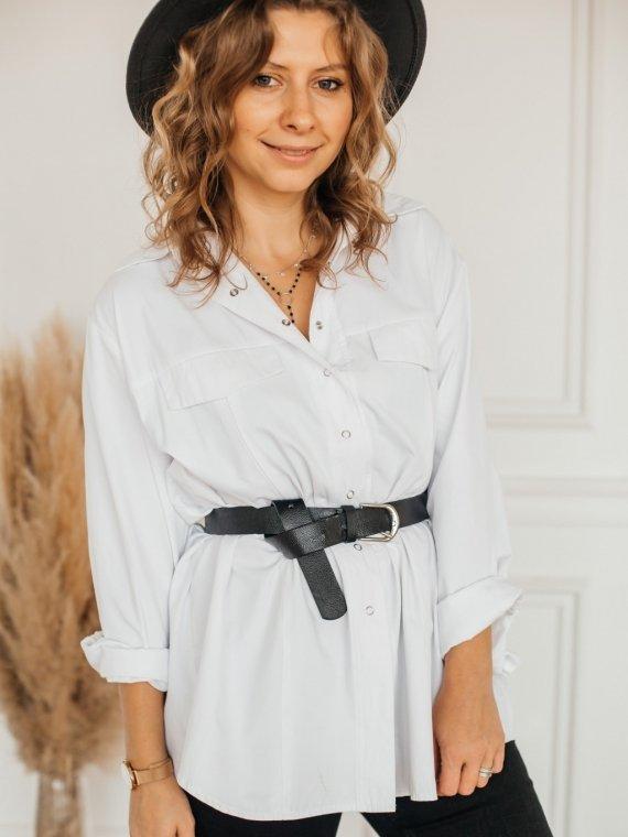 Рубашка женская oversize белая Vikki Kids