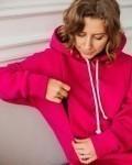 Свитшот женский трикотажный с начесом фуксия Vikki Kids