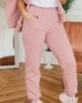 Костюм женский трикотажный с начесом розовая пудра с воротом Vikki Kids