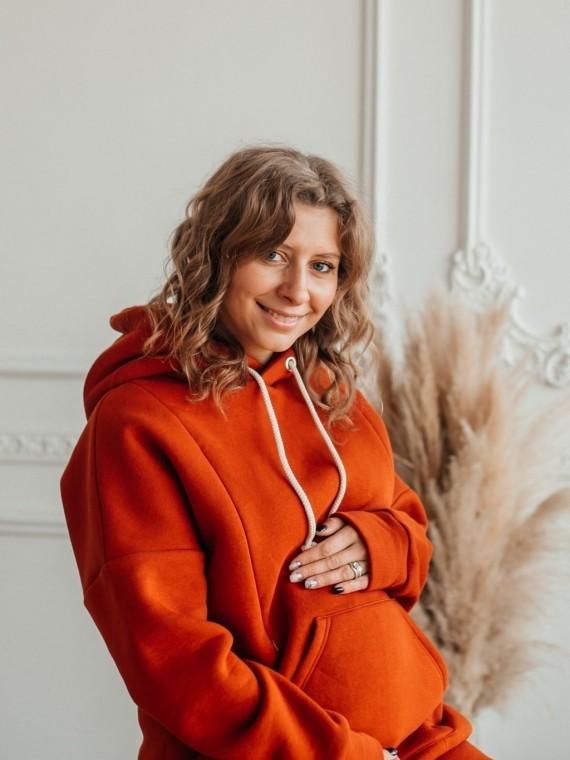 Костюм женский трикотажный с начесом корица Vikki Kids