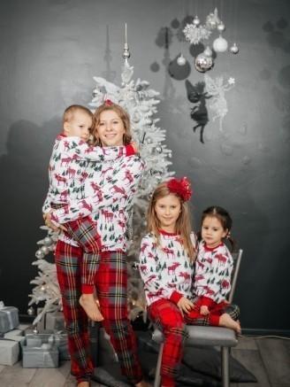 с футболкой с длинными рукавами Рождество Vikki Kids