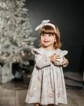 """Платье детское """"софи"""" новогодние серые шары Vikki Kids"""