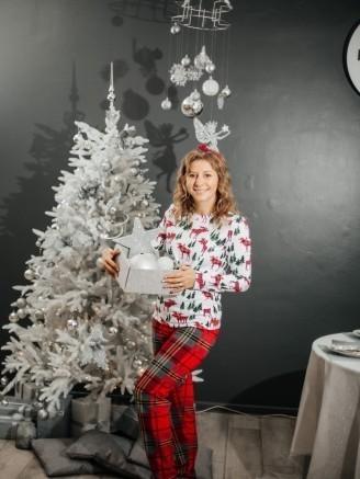 с футболкой с длинными рукавами и с брюками Рождество Vikki Kids