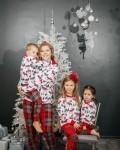 Пижама женская с футболкой с длинными рукавами и с брюками рождество Vikki Kids