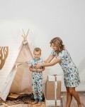 Платье женское домашнее рождественские фонарики Vikki Kids