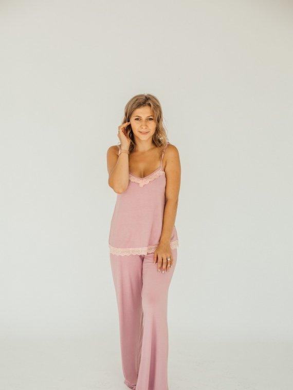 Пижама женская с брюками розовая мечта Vikki Kids