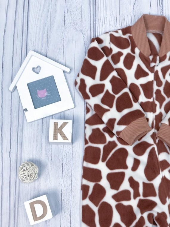 Слип -поддев флисовый жираф Vikki Kids