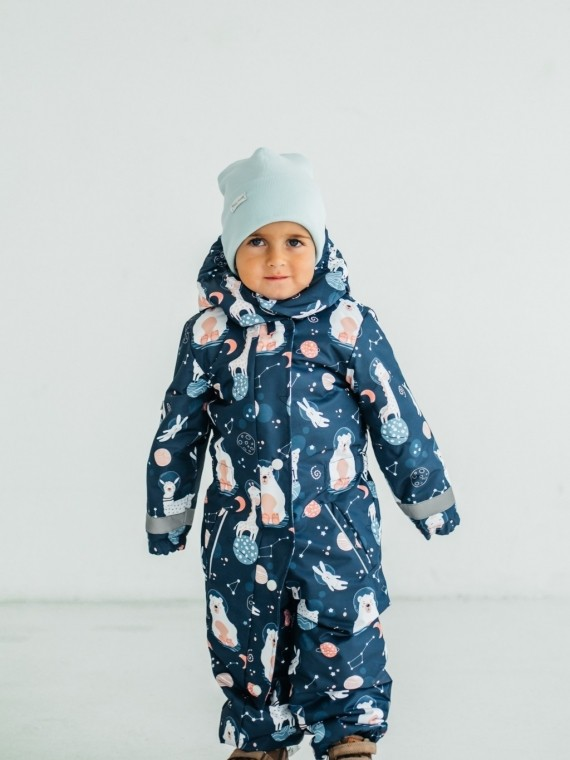 Комбинезон зимний синий космос Vikki Kids