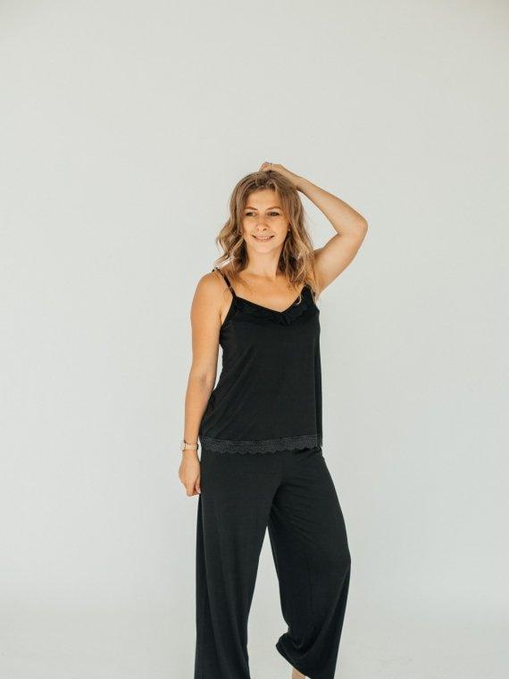 Пижама женская черная с брюками Vikki Kids