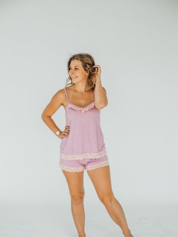 Пижама женская с шортами розовая мечта Vikki Kids