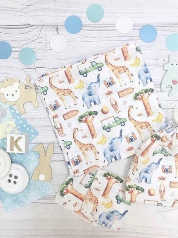 Пеленка муслиновая зоопарк Vikki Kids