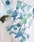 Пеленка муслиновая кактусы Vikki Kids