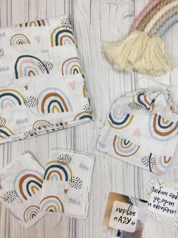 Пеленка муслиновая радуга Vikki Kids