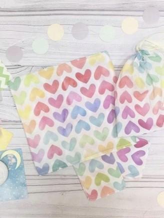 муслиновая Цветные сердечки Vikki Kids