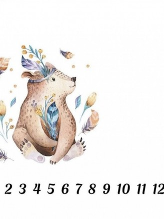 муслиновая Цифры Медвежонок Vikki Kids