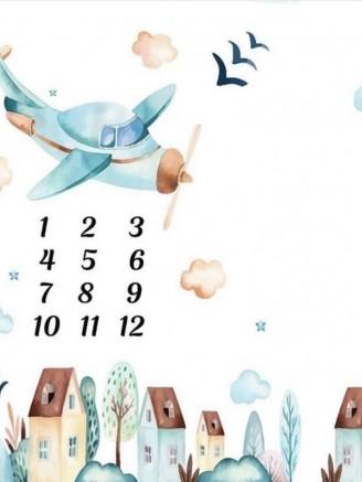 муслиновая цифры самолетик Vikki Kids