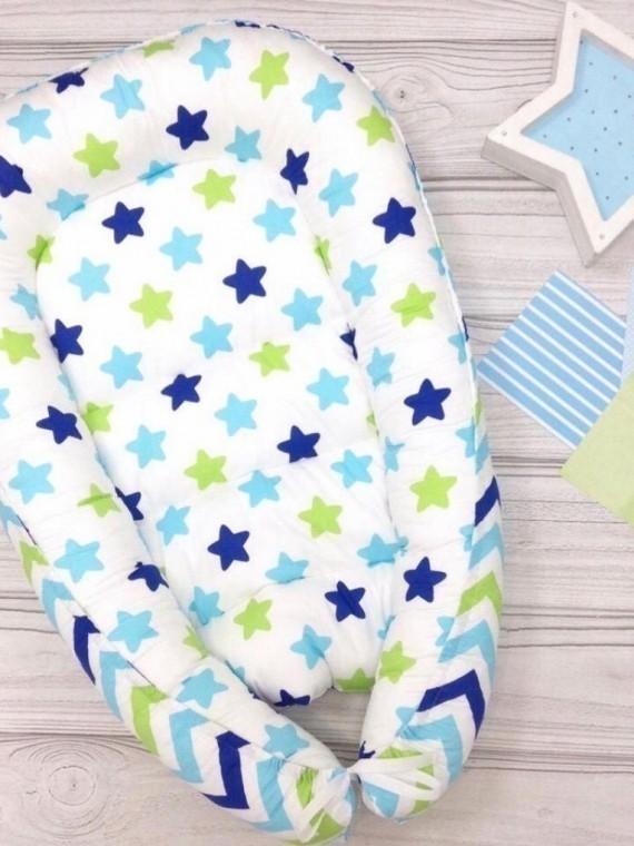 Кокон гнездышко для новорожденных звезды Vikki Kids