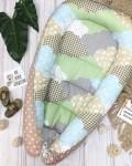 Кокон гнездышко для новорожденных облачко Vikki Kids