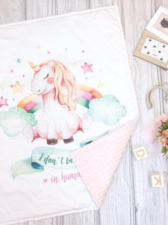 Одеяло розовый единорог Vikki Kids