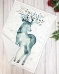 Одеяло белый оленёнок Vikki Kids