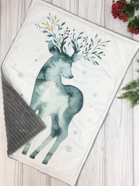 Одеяло серый оленёнок Vikki Kids