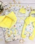 Конверт на выписку и для прогулок морская прогулка желтый Vikki Kids