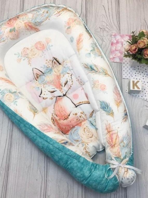 Кокон гнездышко для новорожденных лисичка Vikki Kids