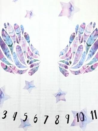 муслиновая цифры розовые крылья Vikki Kids