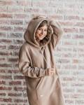 Худи женское платье с начесом какао Vikki Kids