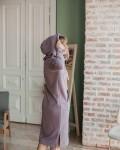 Худи женское платье пудрово-лиловое Vikki Kids