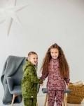 Костюм детский трикотажный с начесом и капюшоном виноград звезды Vikki Kids