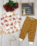 Пижама детская с футболкой с длинными рукавами оленята Vikki Kids