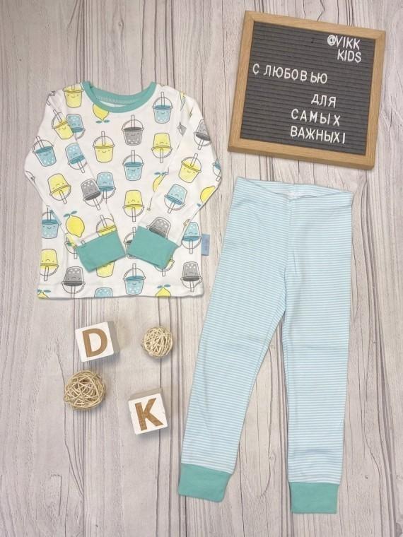 Пижама детская с футболкой с длинными рукавами  лимонад Vikki Kids