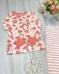 Пижама детская с футболкой с длинными рукавами сердца Vikki Kids