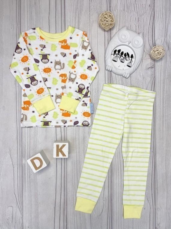 Пижама детская с футболкой с длинными рукавами совушки Vikki Kids