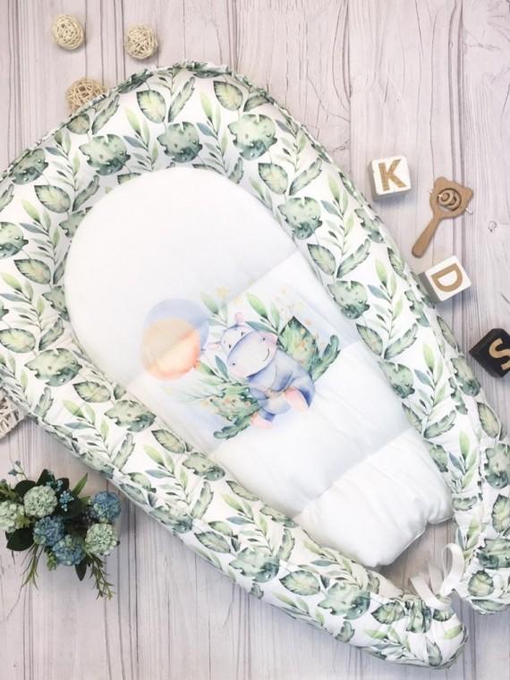Кокон гнездышко для новорожденных бегемотик Vikki Kids