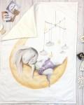 Одеяло зайка на месяце Vikki Kids