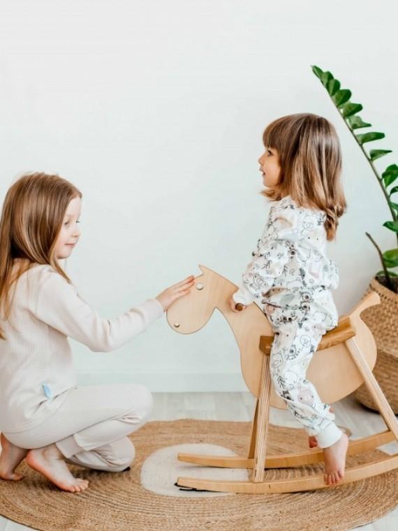 Пижама детская с футболкой и длинными рукавами совушки Vikki Kids