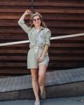 Костюм женский летний с шортами оливка Vikki Kids