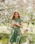 Платье женское -рубашка оливка Vikki Kids
