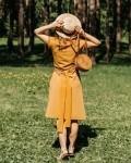 Платье женское -рубашка горчица Vikki Kids